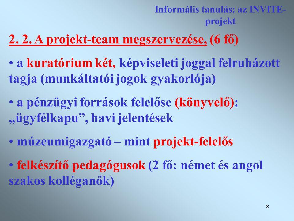 9 Informális tanulás: az INVITE- projekt 2.3.