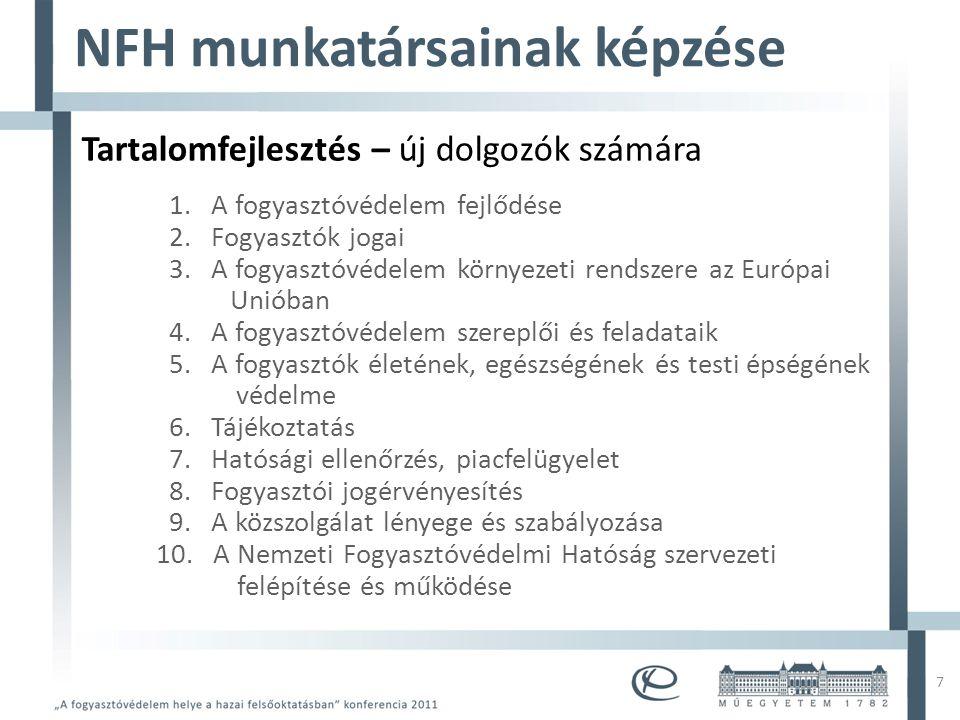 Mintacím szerkesztése • Mintaszöveg szerkesztése – Második szint • Harmadik szint – Negyedik szint » Ötödik szint 7 NFH munkatársainak képzése Tartalo