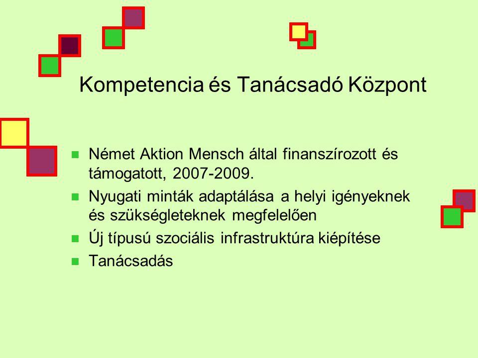 Kompetencia és Tanácsadó Központ  Német Aktion Mensch által finanszírozott és támogatott, 2007-2009.