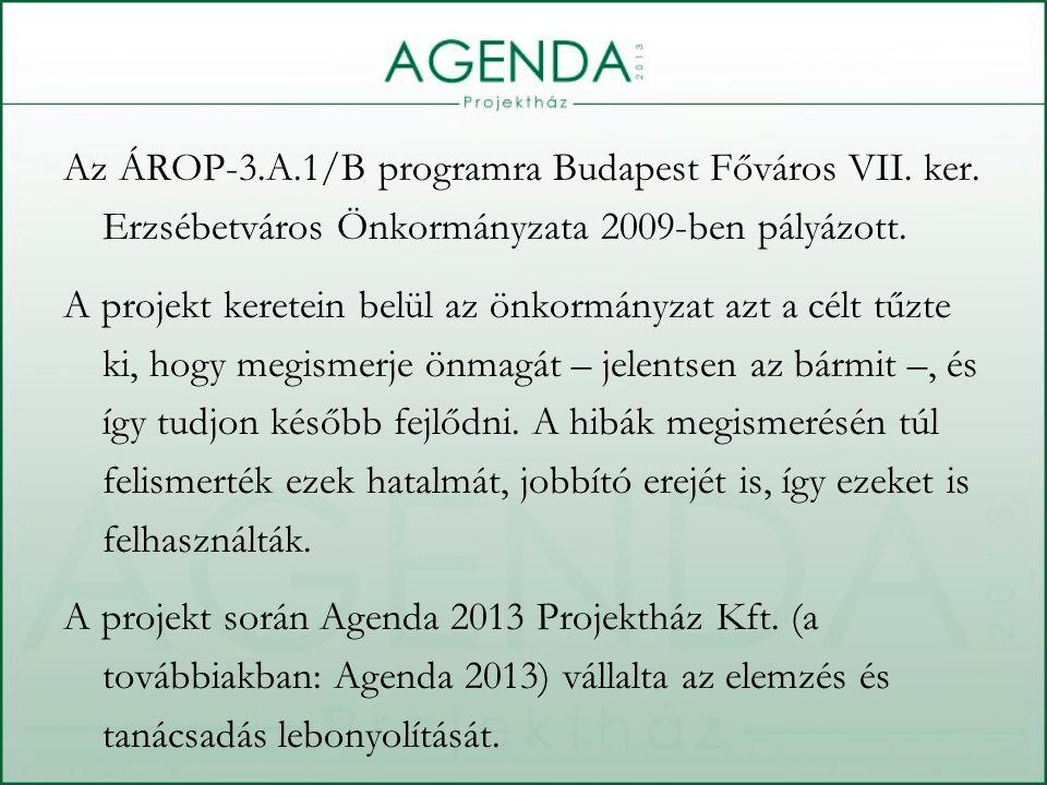 Az ÁROP-3.A.1/B programra Budapest Főváros VII. ker. Erzsébetváros Önkormányzata 2009-ben pályázott. A projekt keretein belül az önkormányzat azt a cé