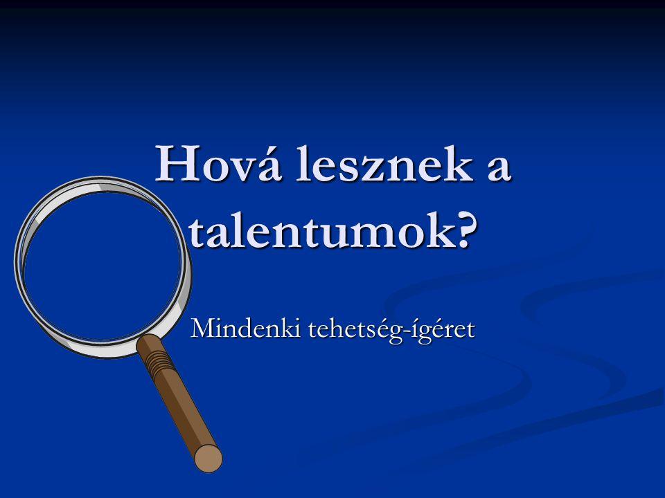 Hová lesznek a talentumok? Mindenki tehetség-ígéret