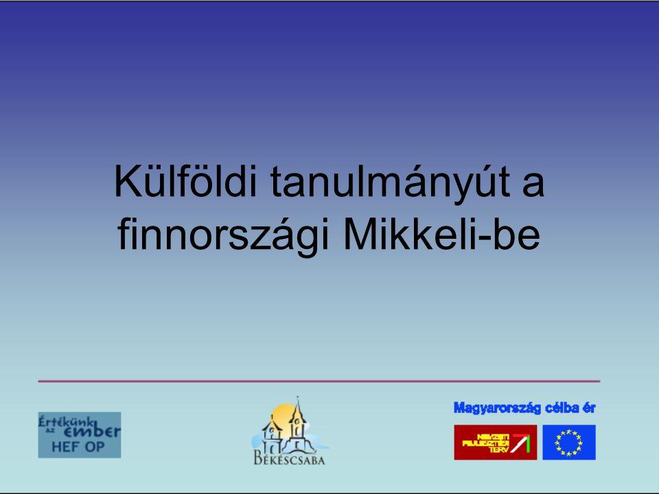 Külföldi tanulmányút a finnországi Mikkeli-be