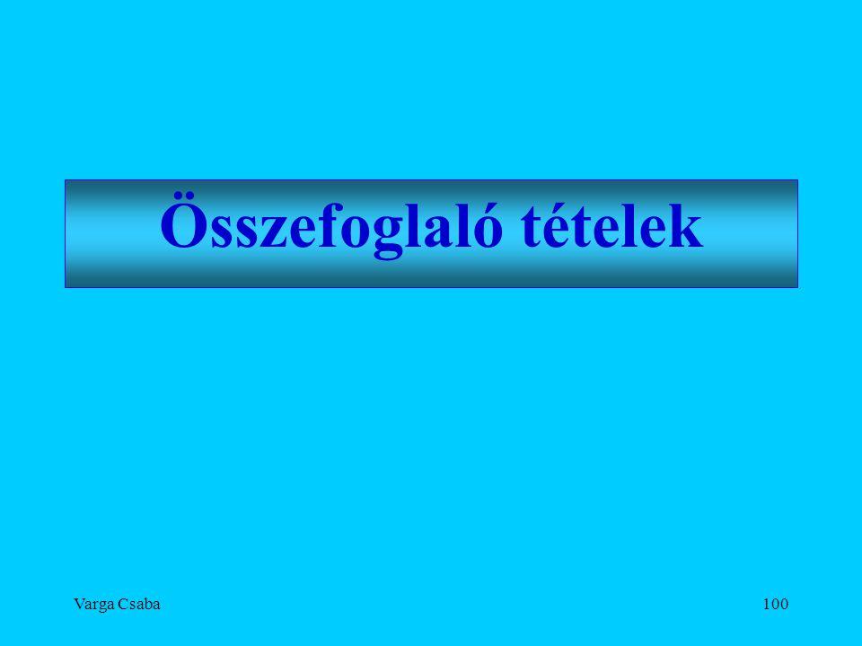 Varga Csaba100 Összefoglaló tételek