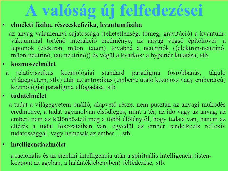 Varga Csaba21 A valóság új felfedezései •elméleti fizika, részecskefizika, kvantumfizika az anyag valamennyi sajátossága (tehetetlenség, tömeg, gravit