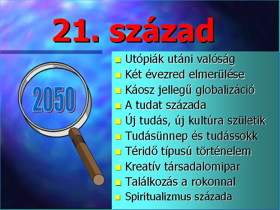 Varga Csaba44 Az emberi vágy •Fizikai lét: a jólét elérése (evés, ivás, fedél) •Szellemi lét: hozzáférés a tudáshoz (információ, ismeret, tudás, pneuma) •Természeti lét: a természeti javak megőrzése (levegő, víz, szárazföld, energia, stb.) •Egészségi lét: a testi-lelki egészség megtartása (kevés betegség és minden fontos betegség gyógyítható) •Közösségi lét: nincs végletes egyedüllét és újrateremthető az identitás (család, barátság, lokalitás, stb.) •Spirituális lét: visszatalálás a pléromához (vallás, transzcendencia, halál utáni élet, stb.)