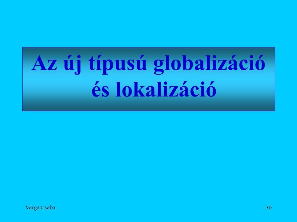 Varga Csaba30 Az új típusú globalizáció és lokalizáció
