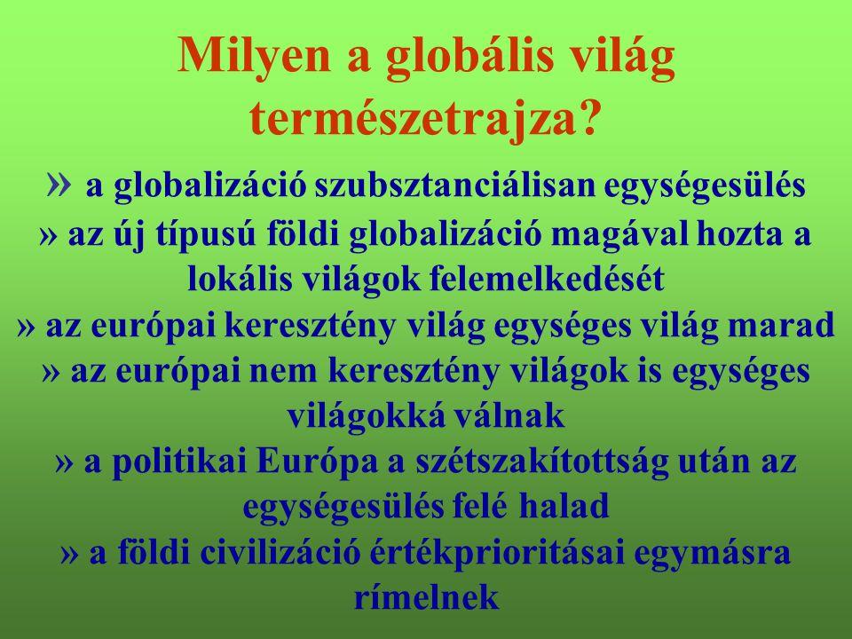 4 Milyen a globális világ természetrajza? » a globalizáció szubsztanciálisan egységesülés » az új típusú földi globalizáció magával hozta a lokális vi