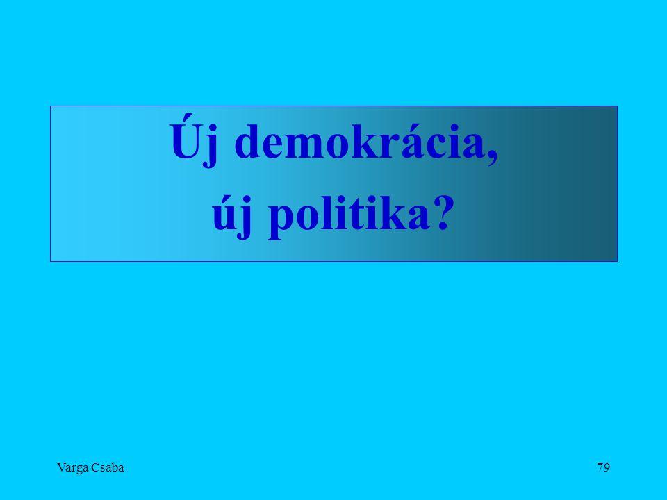 Varga Csaba79 Új demokrácia, új politika?