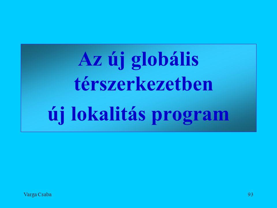 Varga Csaba93 Az új globális térszerkezetben új lokalitás program