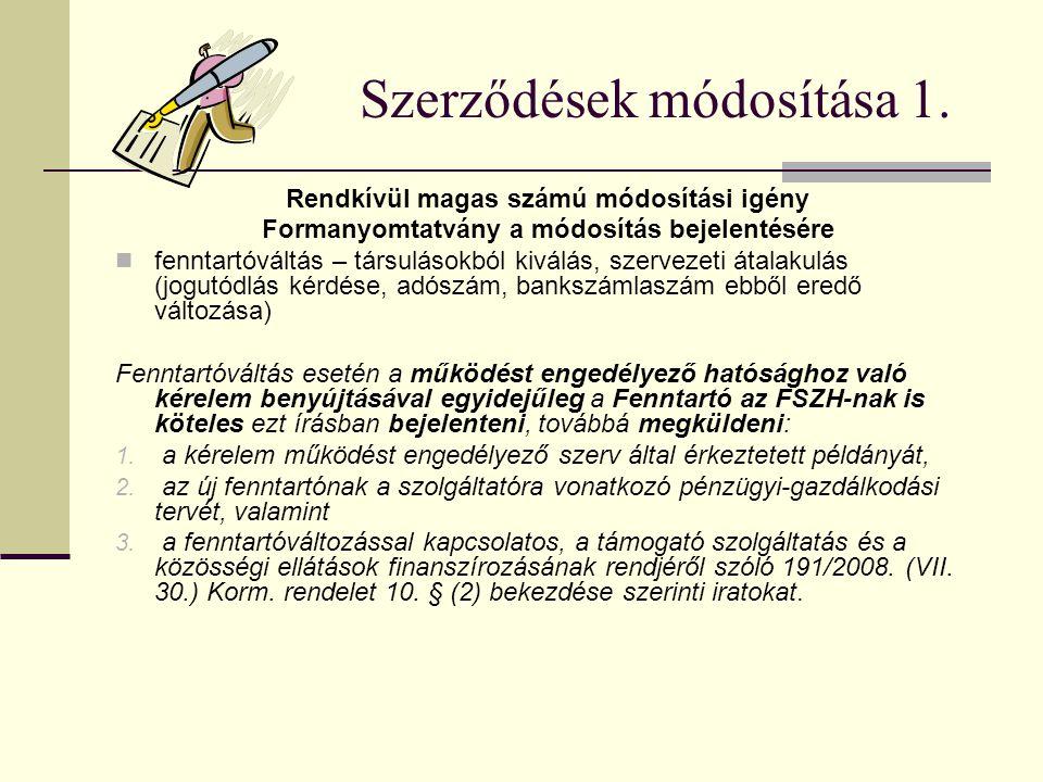 Szerződések módosítása 1.