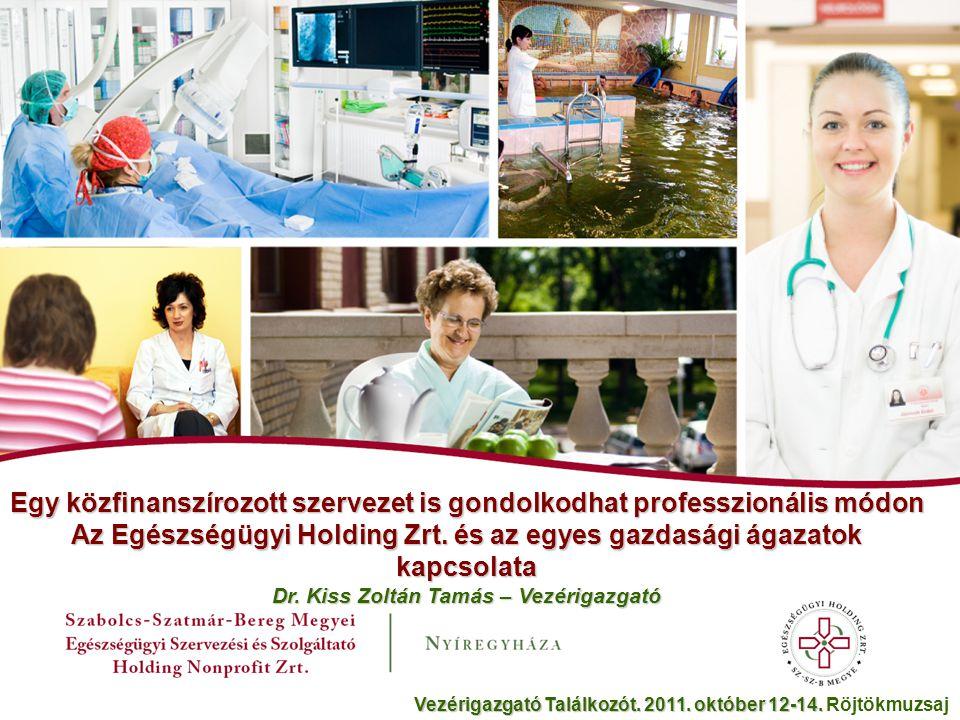 Egy közfinanszírozott szervezet is gondolkodhat professzionális módon Az Egészségügyi Holding Zrt.