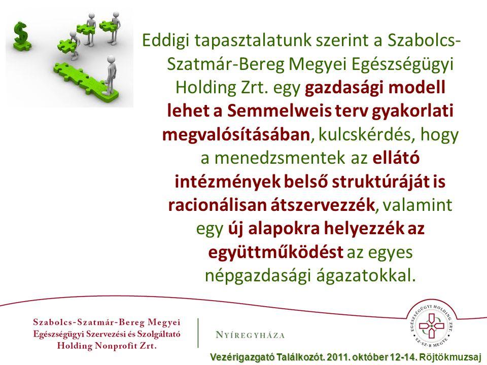 Eddigi tapasztalatunk szerint a Szabolcs- Szatmár-Bereg Megyei Egészségügyi Holding Zrt.