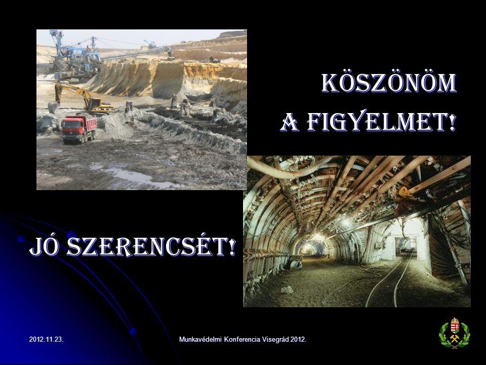Köszönöm a figyelmet! Jó szerencsét! Munkavédelmi Konferencia Visegrád 2012.2012.11.23.