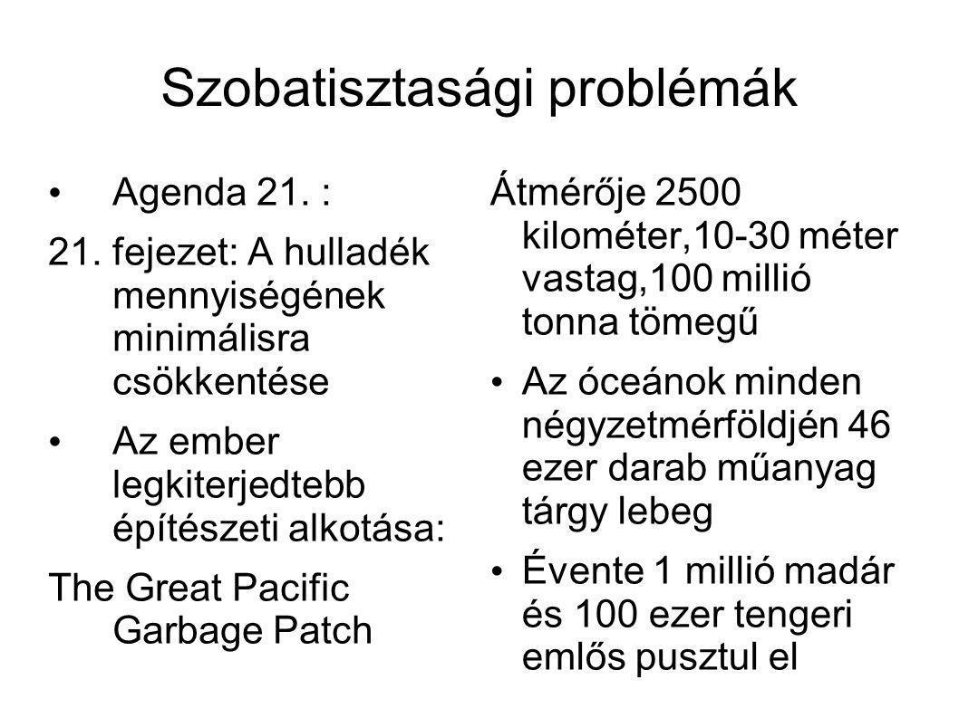Szobatisztasági problémák • Agenda 21. : 21.