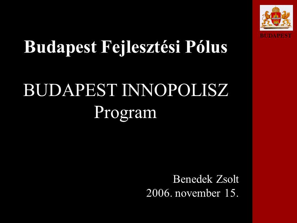 BUDAPEST Budapest Fejlesztési Pólus BUDAPEST INNOPOLISZ Program Benedek Zsolt 2006. november 15.