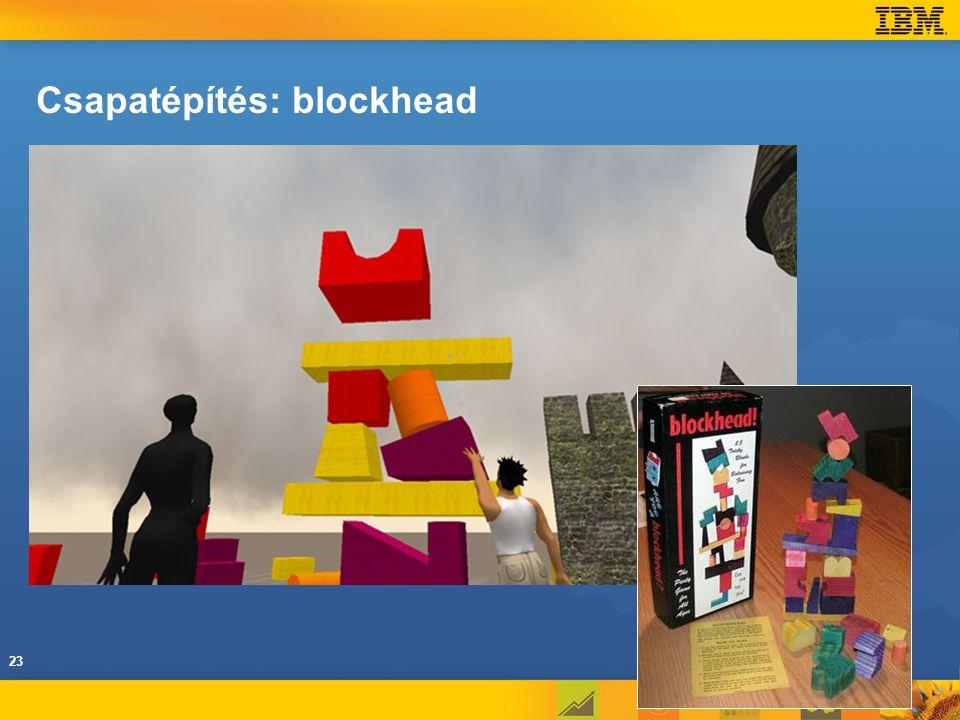 Csapatépítés: blockhead 23