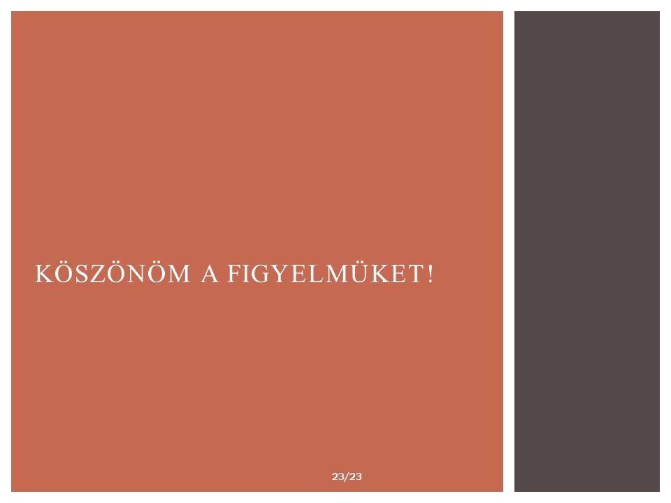 KÖSZÖNÖM A FIGYELMÜKET! 23/23