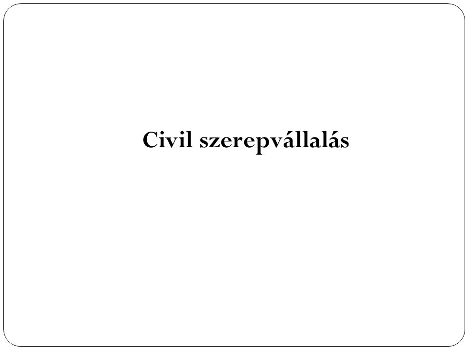 Civil szerepvállalás