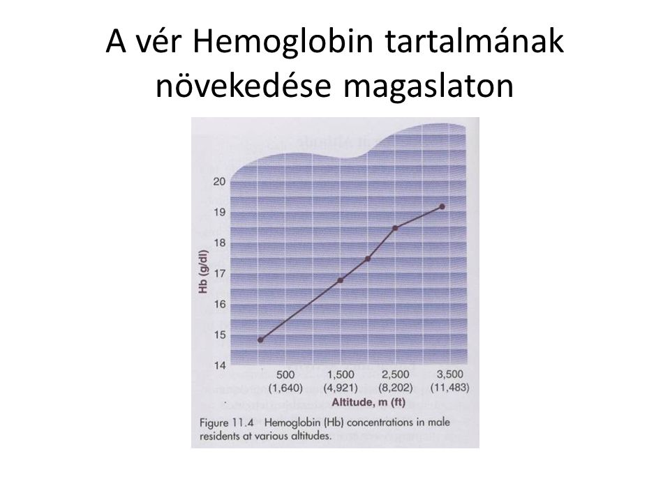 A vér Hemoglobin tartalmának növekedése magaslaton