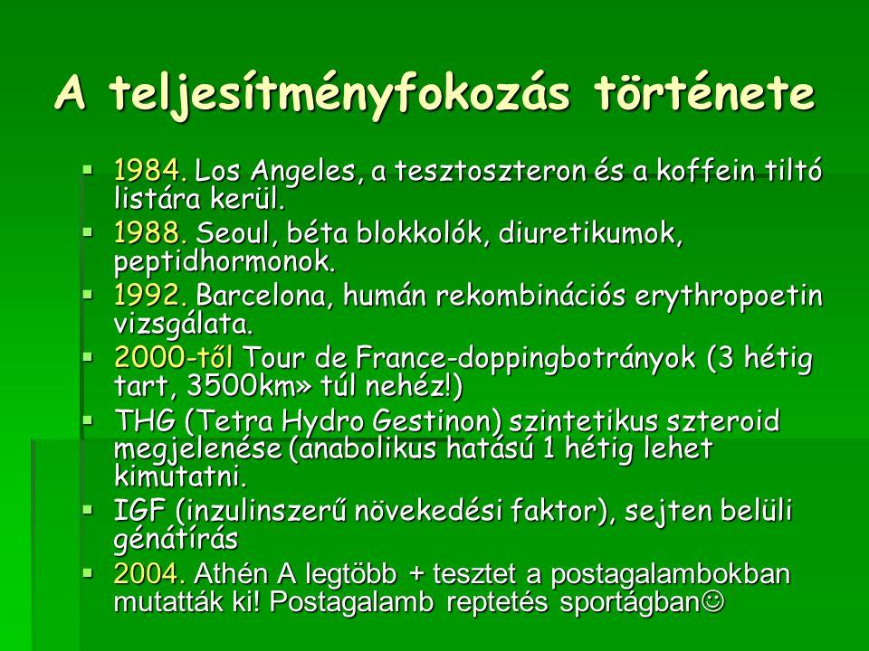 A teljesítményfokozás története  1984.