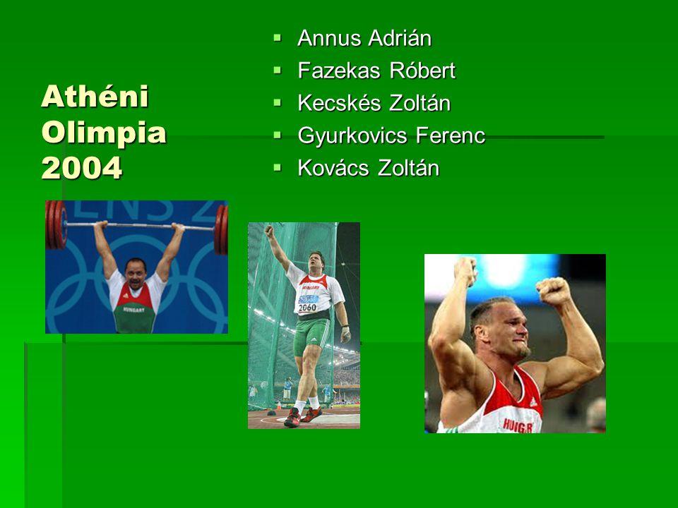 Athéni Olimpia 2004  Annus Adrián  Fazekas Róbert  Kecskés Zoltán  Gyurkovics Ferenc  Kovács Zoltán