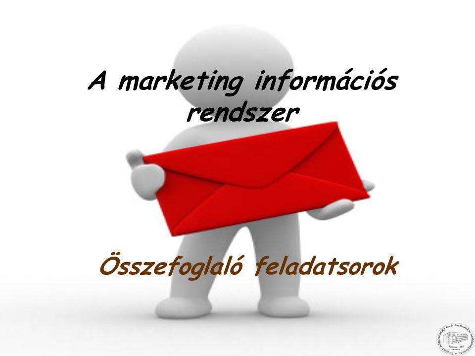 A marketing információs rendszer Összefoglaló feladatsorok