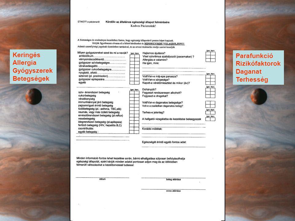 Keringés Allergia Gyógyszerek Betegségek Parafunkció Rizikófaktorok Daganat Terhesség