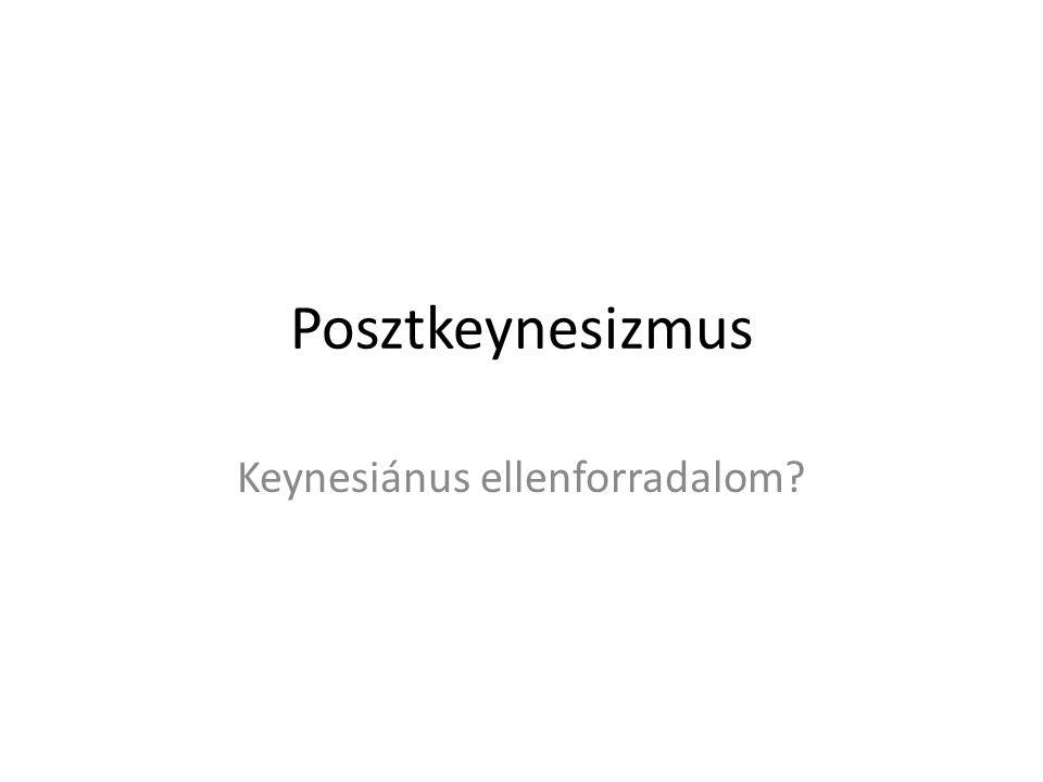 Posztkeynesizmus Keynesiánus ellenforradalom?