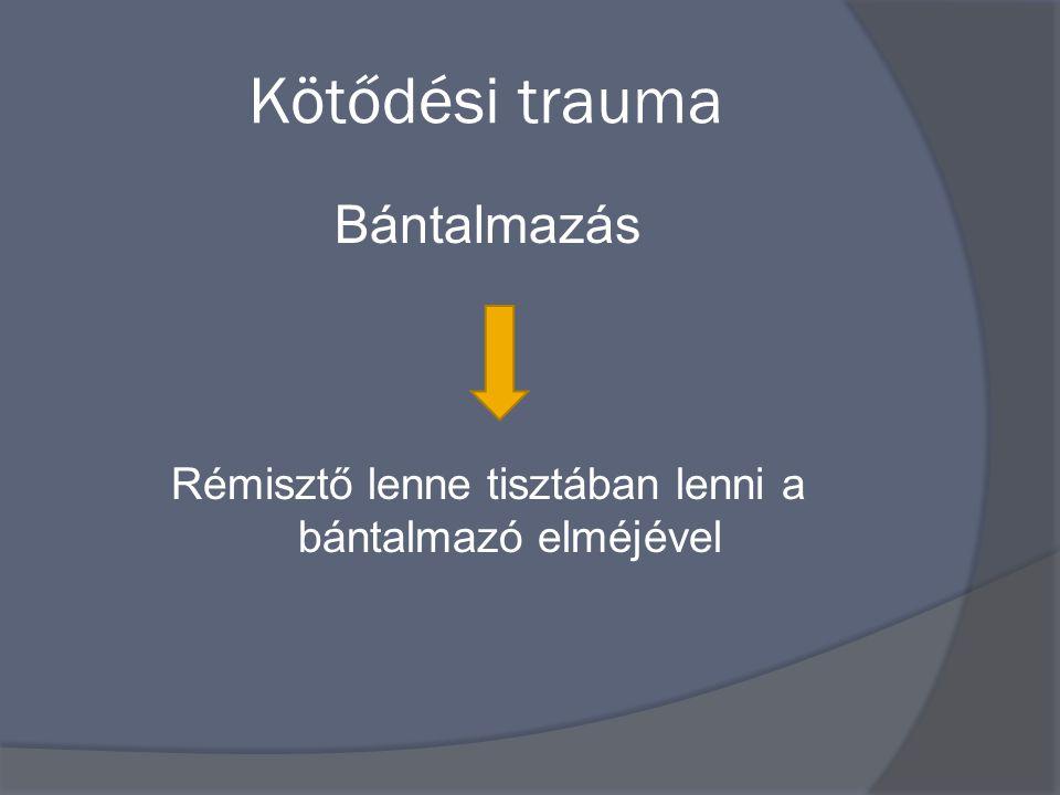 Kötődési trauma Bántalmazás Rémisztő lenne tisztában lenni a bántalmazó elméjével