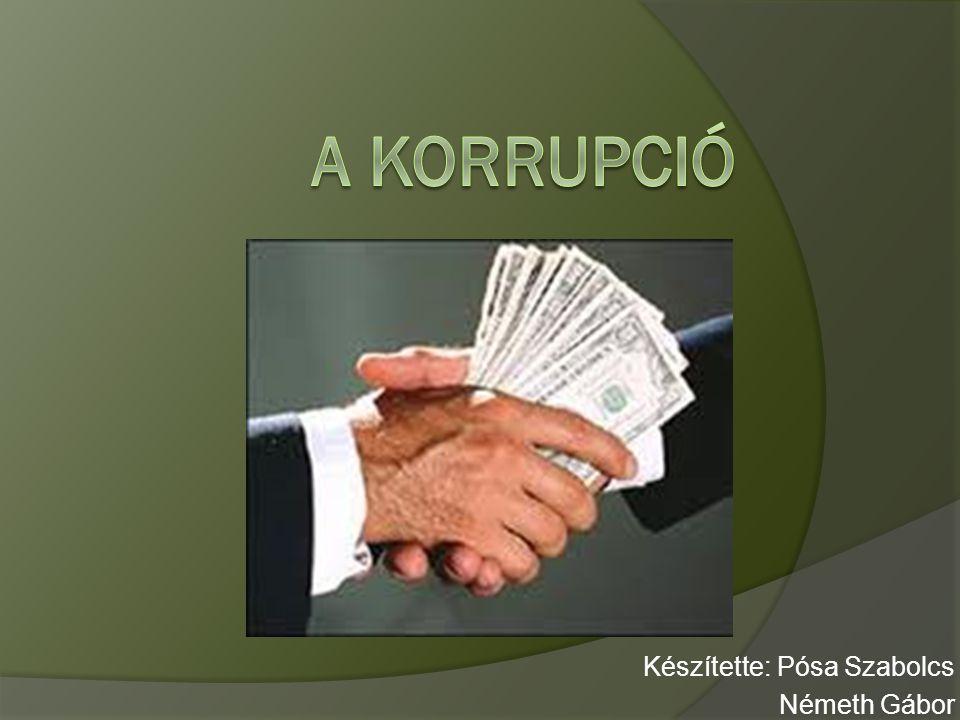 Prezentáció felépítése  Korrupció fogalma, eredete  Korrupció Magyarországon  Transparency International