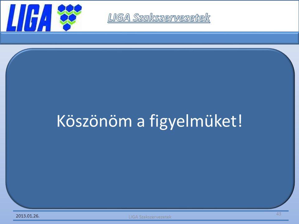 2013.01.26. Köszönöm a figyelmüket! LIGA Szakszervezetek 43