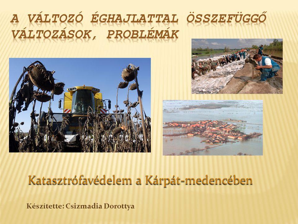 Katasztrófavédelem a Kárpát-medencében Katasztrófavédelem a Kárpát-medencében Készítette: Csizmadia Dorottya