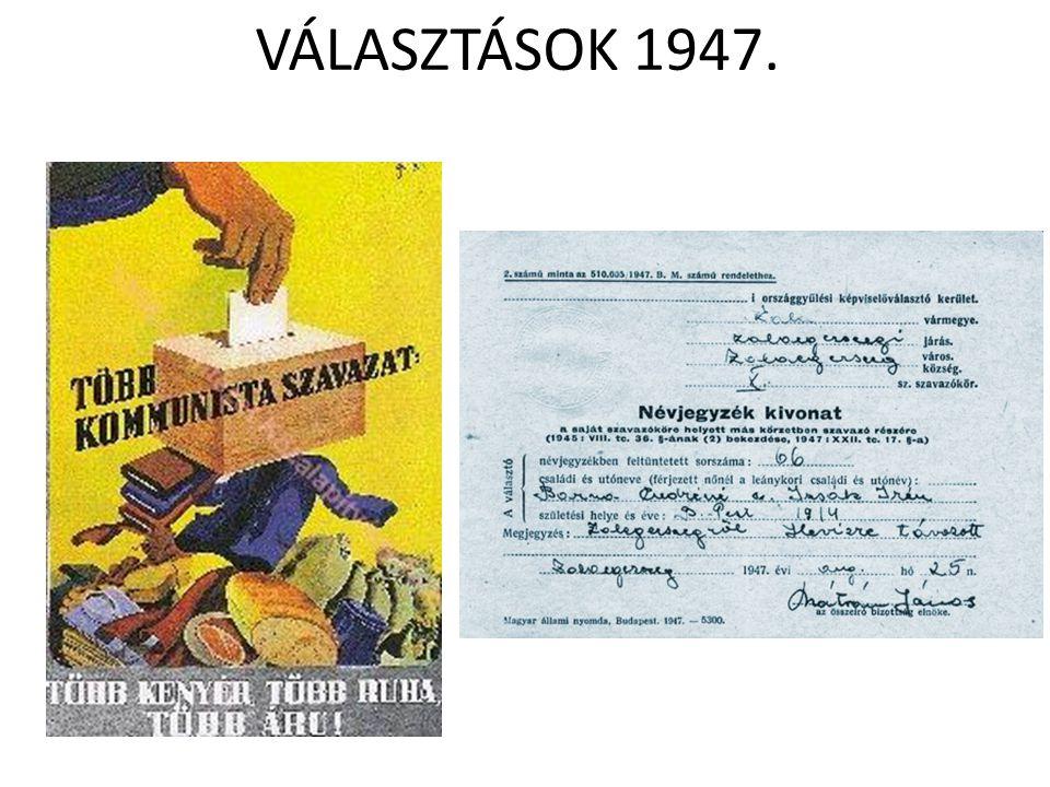 VÁLASZTÁSOK 1947.