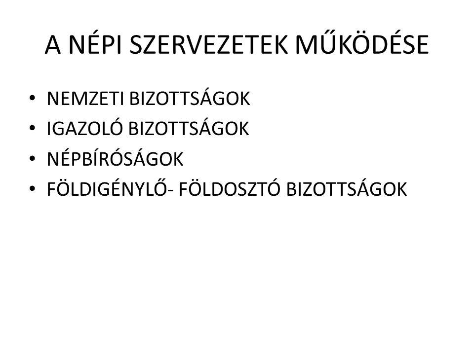 VÁLASZTÁSOK 1945.