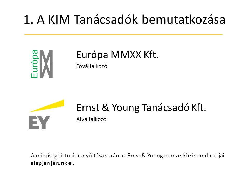 1.A KIM Tanácsadók bemutatkozása Európa MMXX Kft.