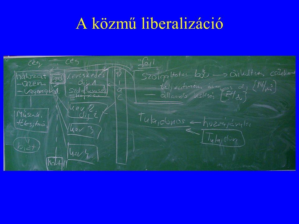 A közmű liberalizáció problémája •A szétválasztás: kereskedő – szállító •eredmény: dupla management, adminisztráció, a leépítés a szállítónál következik be.