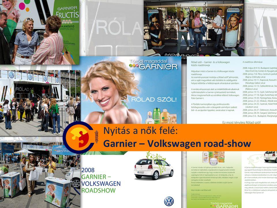 Nyitás a nők felé: Garnier – Volkswagen road-show