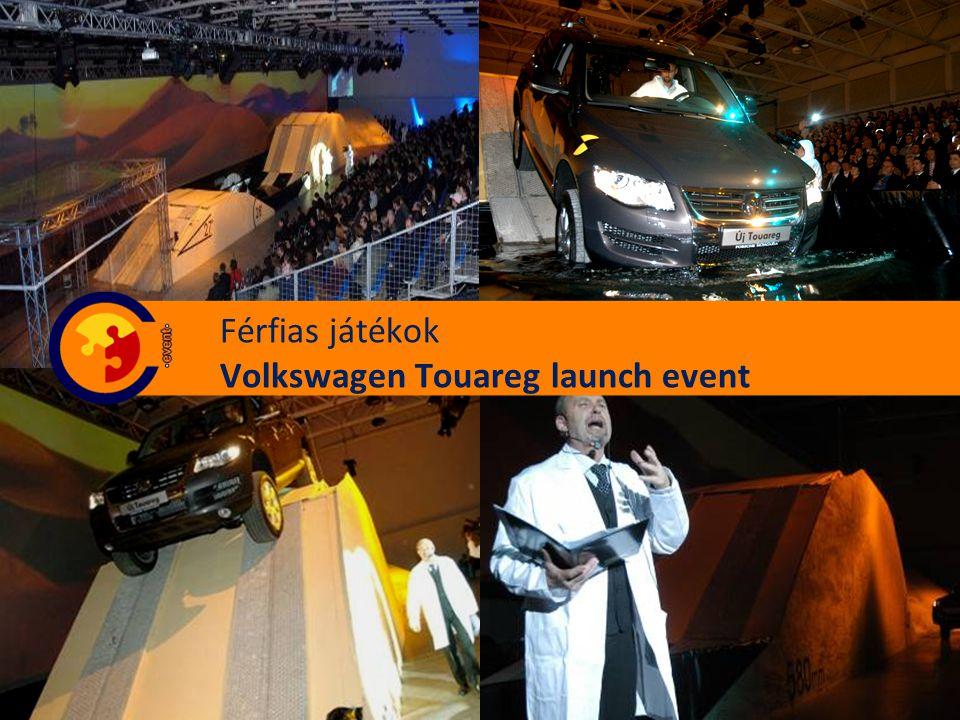 Férfias játékok Volkswagen Touareg launch event