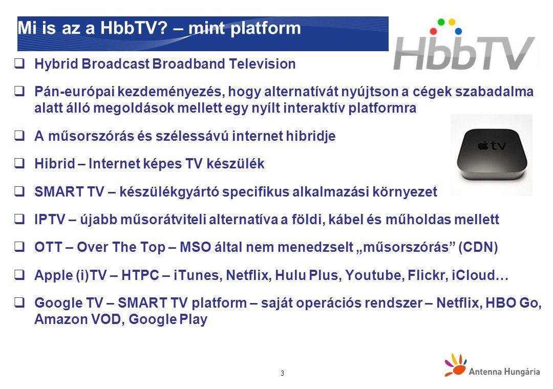 Mi is az a HbbTV? – mint konzorcium prezentáció címedátum 4