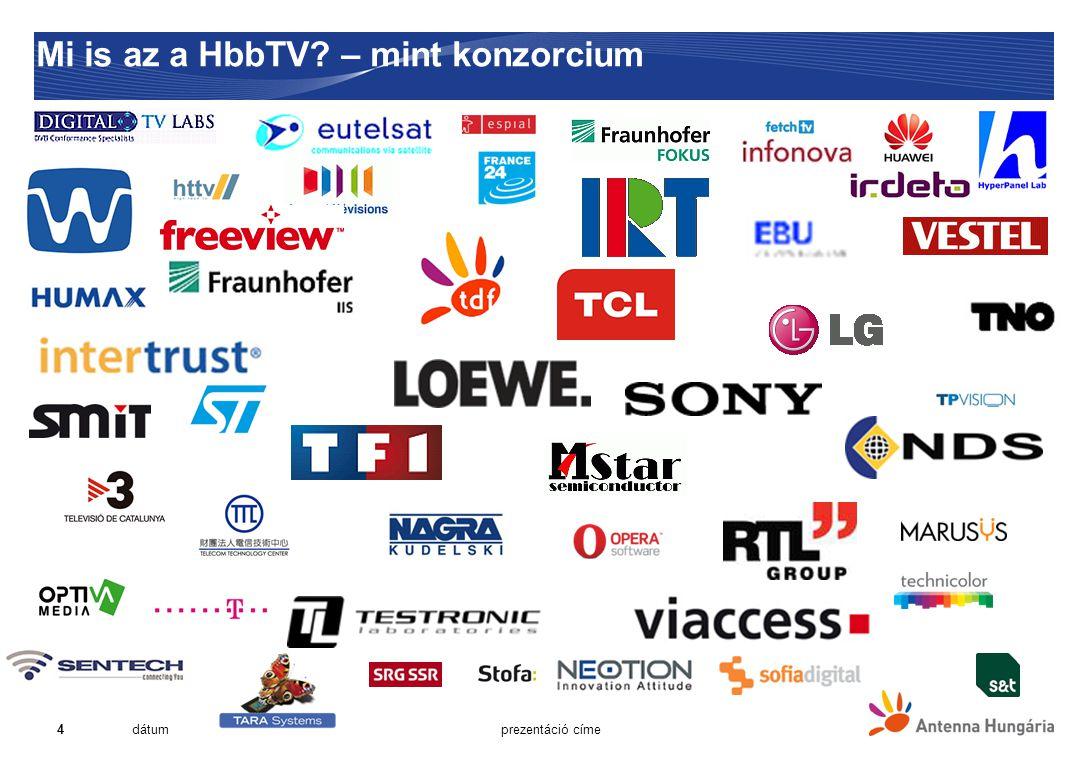 """15 Alkalmazások felosztása  Broadcast függő  """"red button alkalmazások  Interaktív hirdetések  Szavazás, kvíz  Sporteredmények  Programmal kapcsolatos alkalmazások (T-Commerce)  Digitális teletext a TEXT gomb megnyomásával  Broadcast független – indítás a broadcastból történik  Catch-up TV, VoD – ajánló és kereső funkciókkal  Játékok  Szociális média  Fotók megosztása  Élő streaming (TV, rádió)  Start-over (kék gomb, direkt elérésű)  Időjárás"""