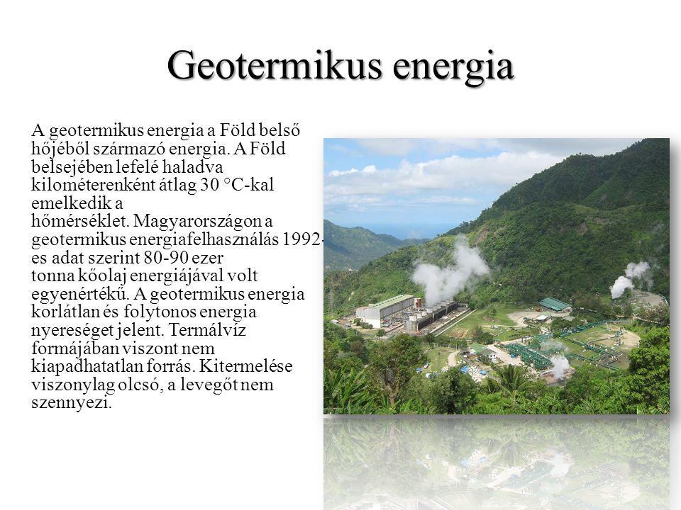 Napenergia Az aktív energiatermelésnek két módja van.