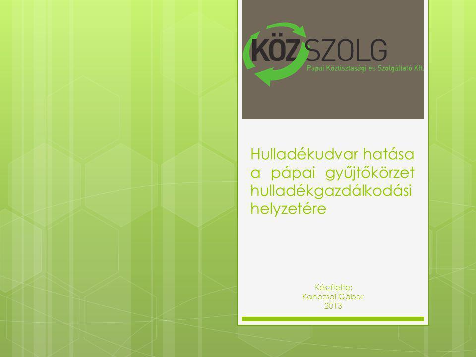 Vonatkozó főbb jogi normák  a hulladékról szóló 2012.