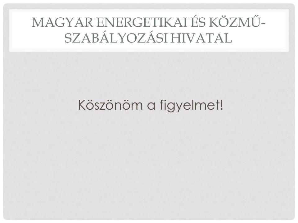 MAGYAR ENERGETIKAI ÉS KÖZMŰ- SZABÁLYOZÁSI HIVATAL Köszönöm a figyelmet!
