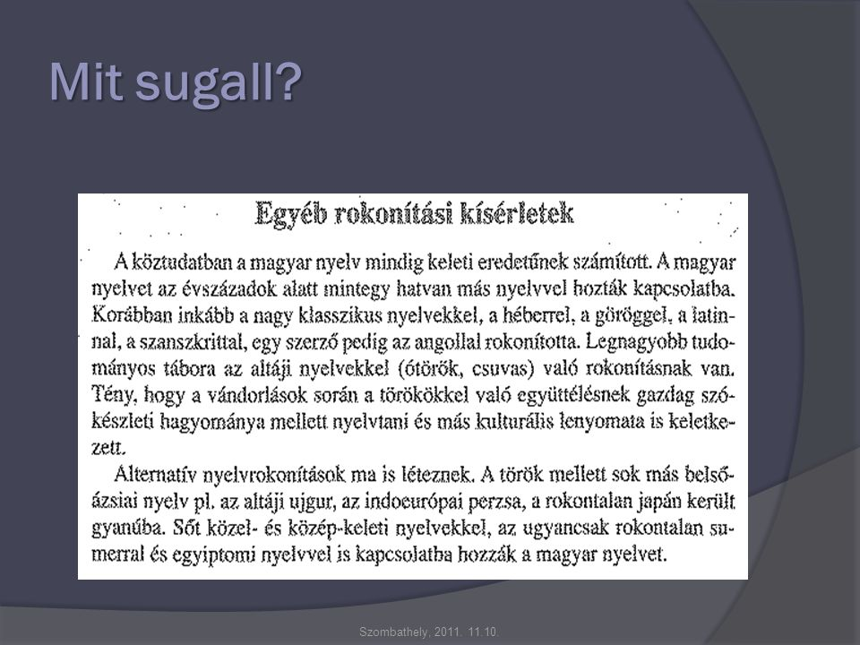 Mit sugall Szombathely, 2011. 11.10.