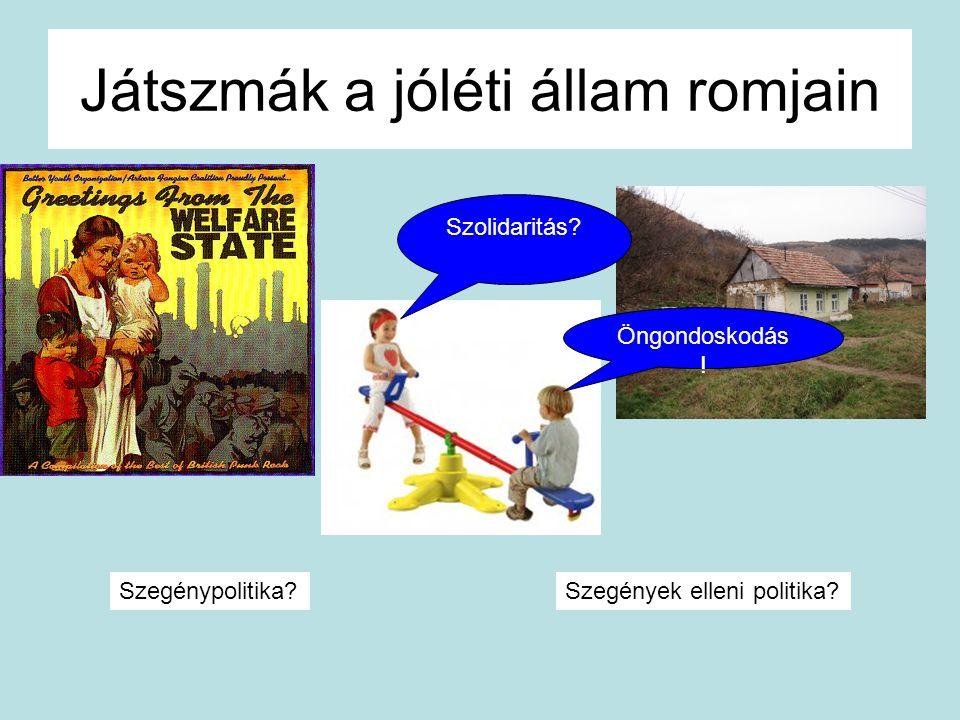 Játszmák a jóléti állam romjain Szolidaritás? Öngondoskodás ! Szegénypolitika?Szegények elleni politika?