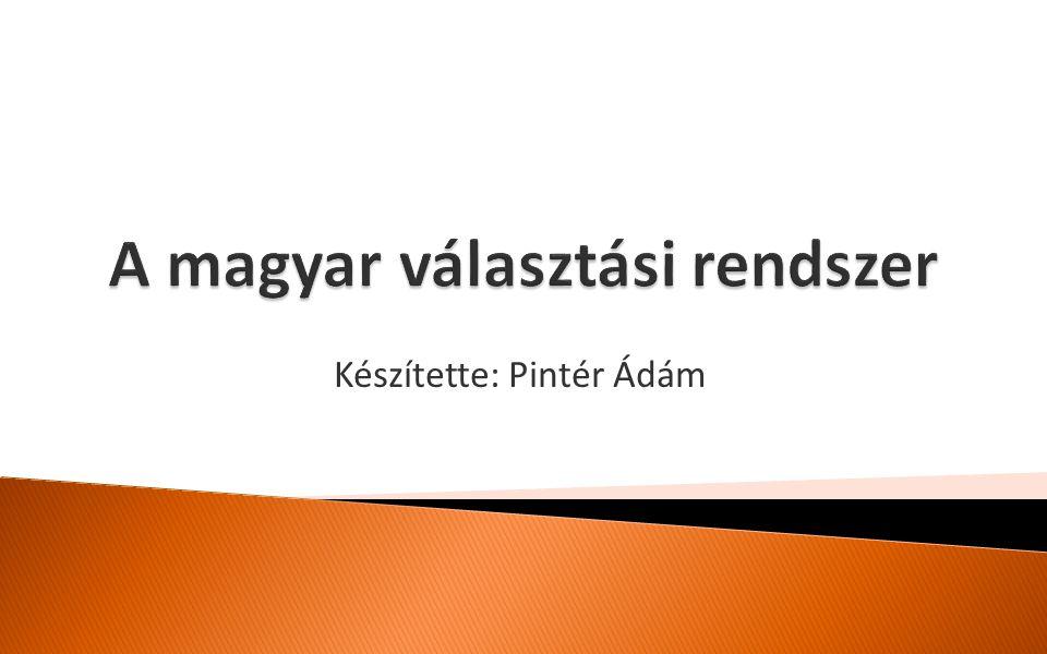 KONKRÉT PÉLDA Párt neve Szavazatok száma Szavazat/ H-B Kapott mandá tum Fennmaradó szavazatok száma Kétharmados szabállyal nyert mandátumok száma Töredék- szavazatok száma Összes megszerzett mandátum MSZP 482 323 12,80 12 29 971 1 -772513 SZDSZ 104 474 2,77 2 29 082 1 -86143 Fidesz-MDF 345 181 9,16 9 5 917 0 9 Országgyűlési választások, Budapest, 2002.