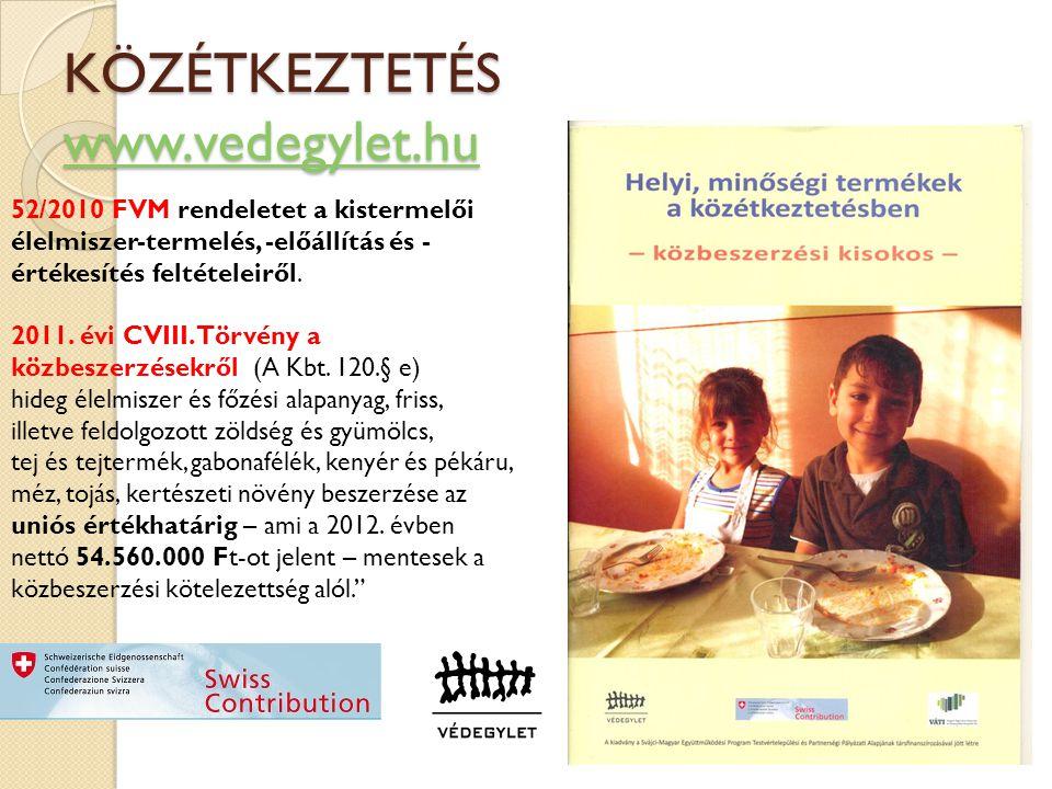 KÖZÉTKEZTETÉS www.vedegylet.hu www.vedegylet.hu 52/2010 FVM rendeletet a kistermelői élelmiszer-termelés, -előállítás és - értékesítés feltételeiről.