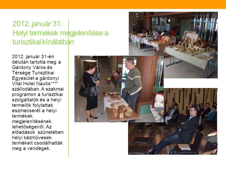 2011. november 24. Velencei-tavi ökoturisztikai termékfejlesztés és helyi termékek a turisztikai kínálatban 2011. november 24-én, a Dinnyési Templomke