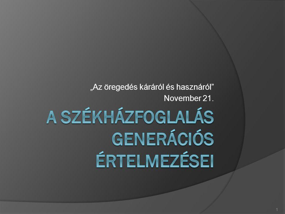 """""""Az öregedés káráról és hasznáról November 21. 1"""
