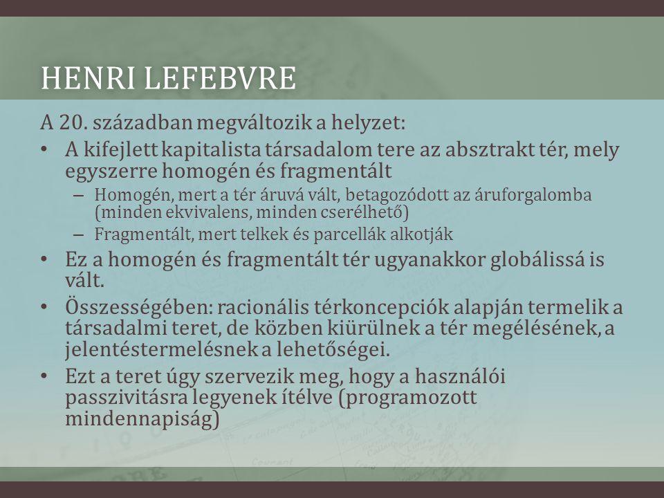HENRI LEFEBVREHENRI LEFEBVRE A 20.